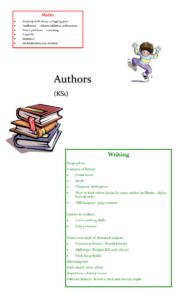 Authors writing KS1
